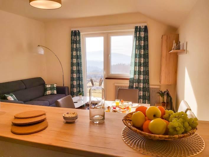 Ferienwohnungen Haus Fernblick Waisenegg Wohnzimmer