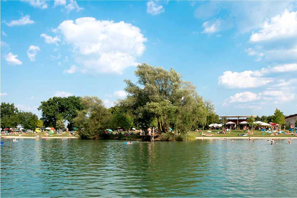 Naturbadesee Königsdorf Gastgeber am Uhudler B72 Suedburgerland