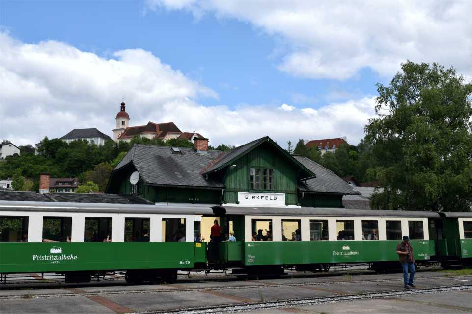 Birkfeld Bahnhof am Feistritztalradweg R8