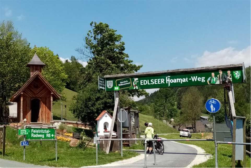 Ausflugsziel am Feistritztalradweg R8 Die-Edlseer-HOAMAT-Wanderweg