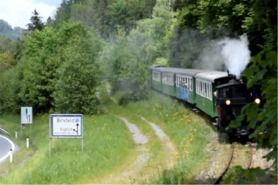 Koglhof am Feistritztalradweg R8 Unterwegs